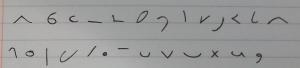 Teeline alphabet