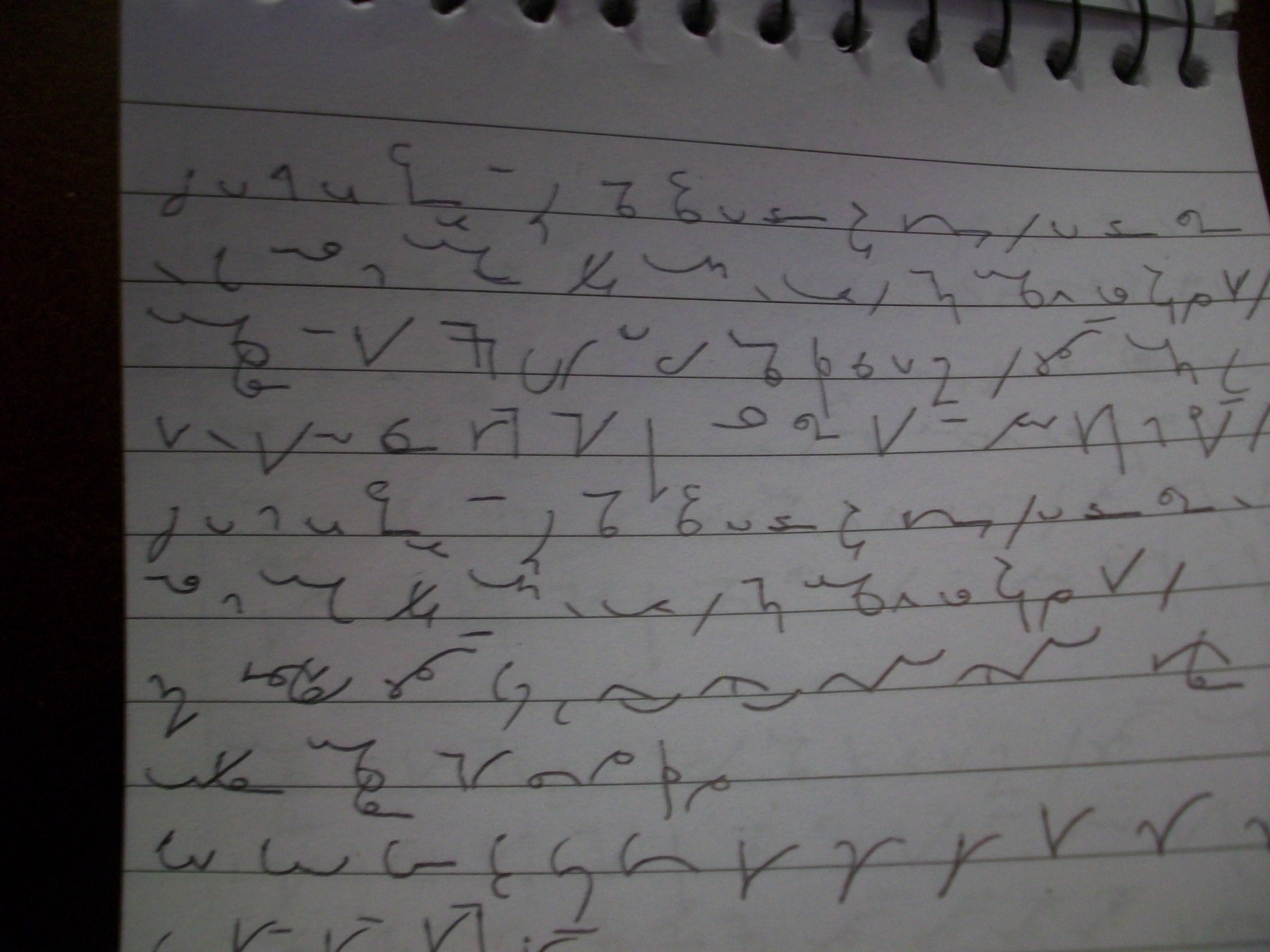shorthand writing