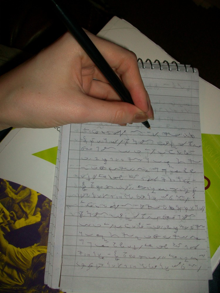 Tips for writing Teeline shorthand left-handed (3/5)