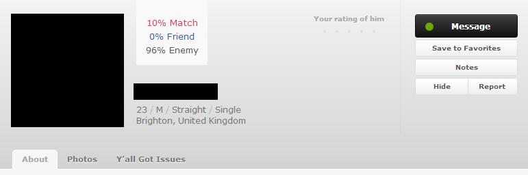 OkCupid vs. BeautifulPeople (3/6)