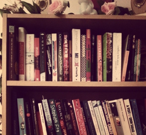 Books in bookcase