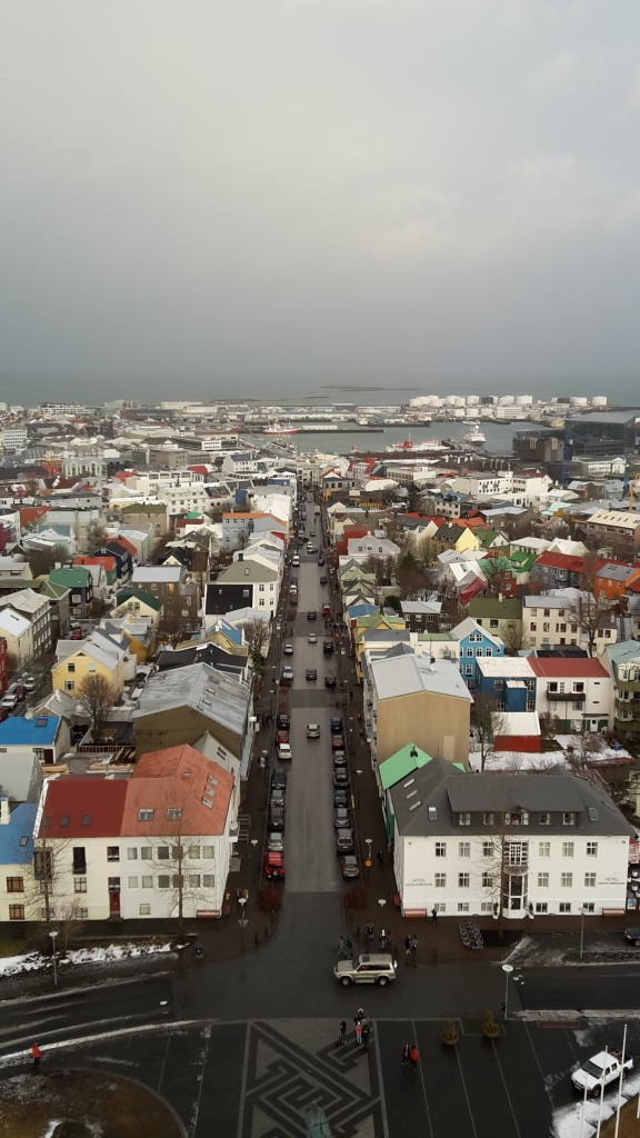 View from the tower of Hallgrímskirkja, Reykjavik's iconic Lutheran church