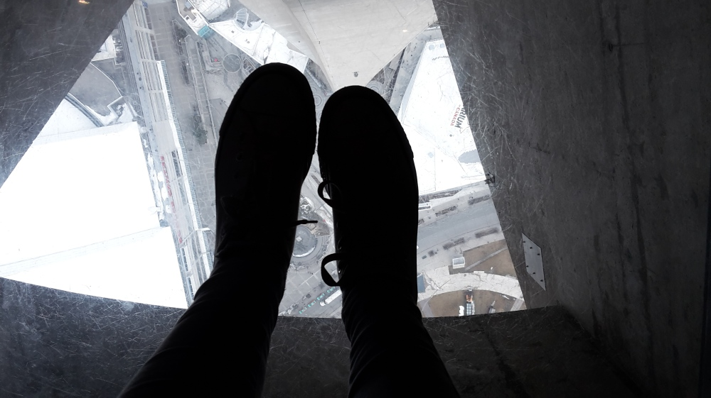 Glass floor in the CN Tower, Toronto