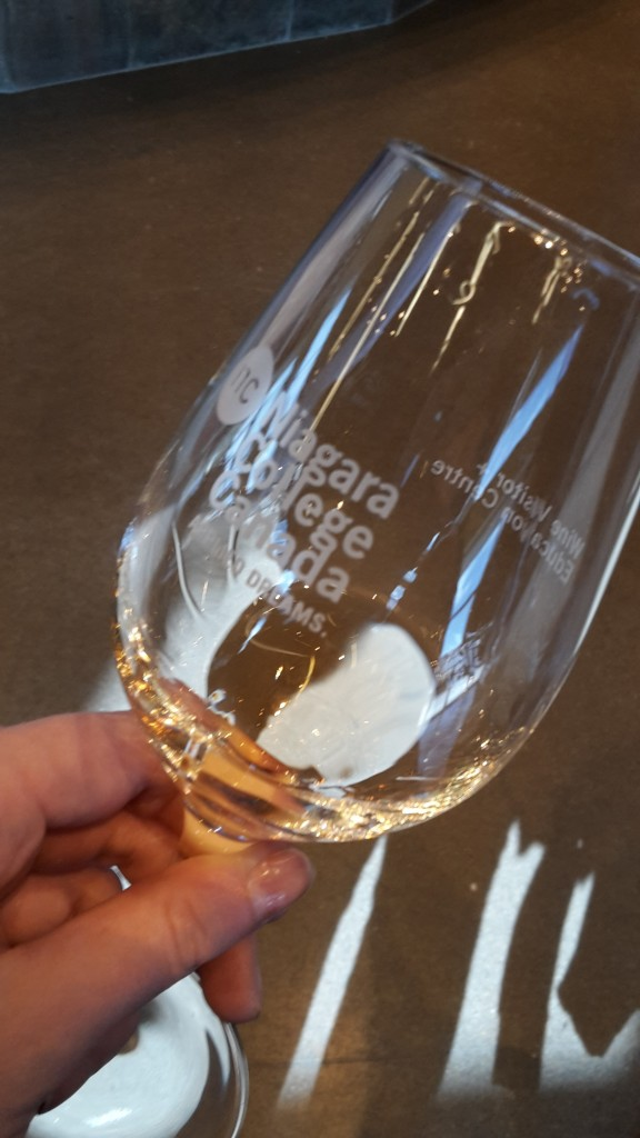 Ice wine in a wine college, Niagara region