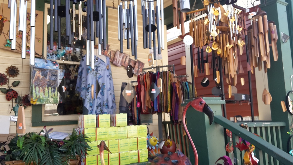 Windchimes in a shop in Niagara-on-the-Lake
