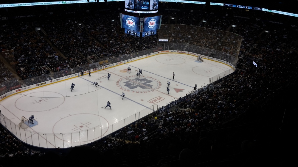 Toronto Maple Leafs vs San Jose Sharks at the Air Canada Centre, Toronto