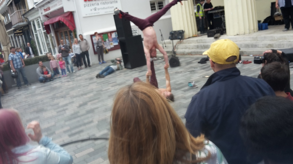 Street performers at Brighton Fringe Festival