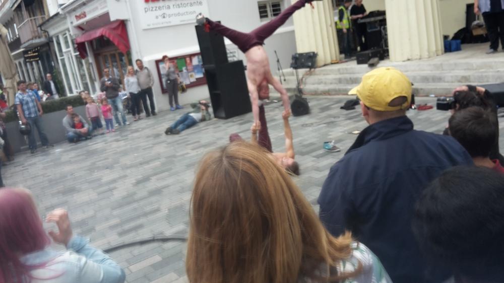 Street performers at Brighton Fringe Festival