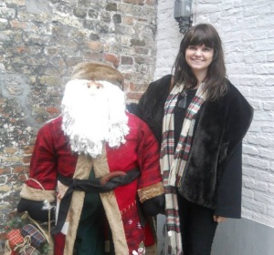 Kayleigh Tanner with Father Christmas in Bruges