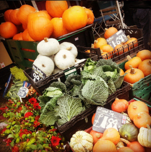 Pumpkins and squashes at Fiveways Fruits, Brighton