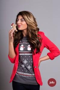 Jolly retro Christmas t-shirt