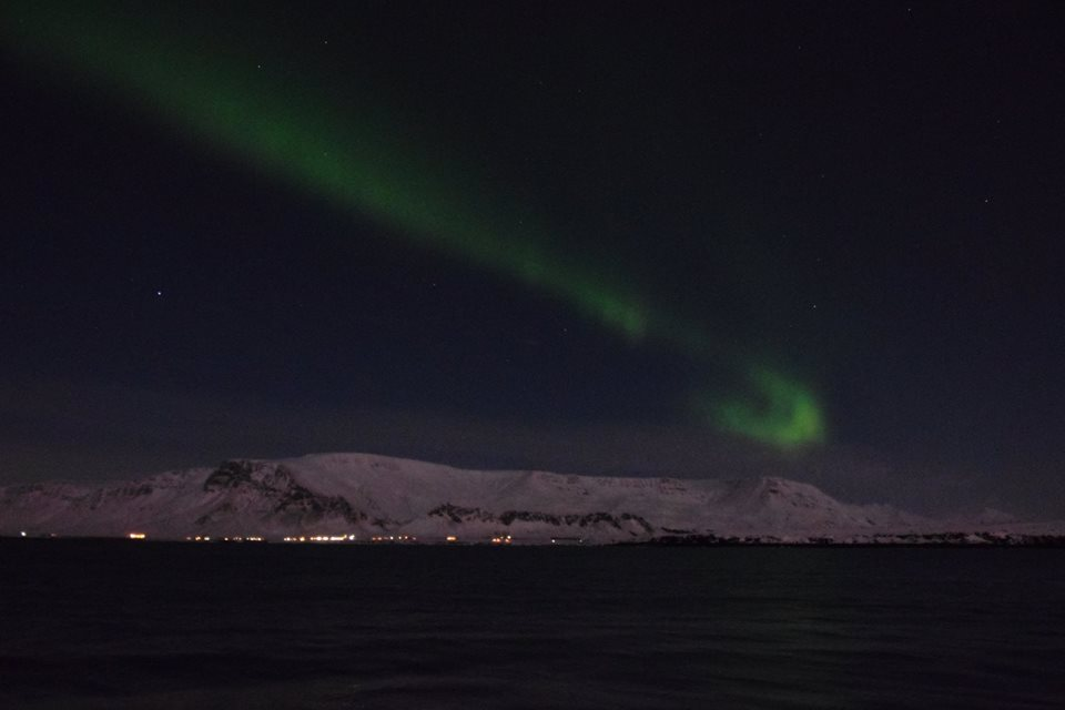 Northern Lights over Reykjavik, Iceland