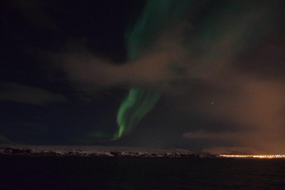 Aurora Borealis over Reykjavik, Iceland