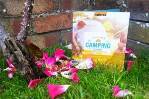 Halfords camping guide on grass