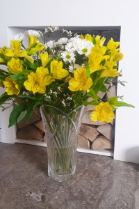 Yellow flowers in the Bloom & Wild Charlie bouquet