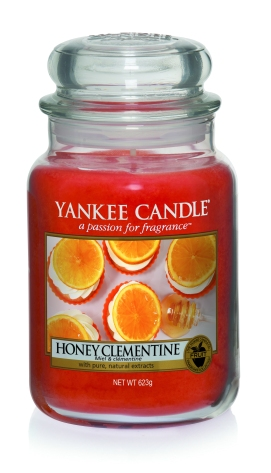 Yankee Candle Harvest Time Honey Clementine candle