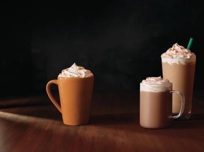 Starbucks Pumpkin Spice Latte and Chile Mocha