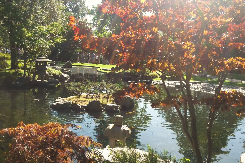 Kyoto Garden in autumn, Holland Park, London