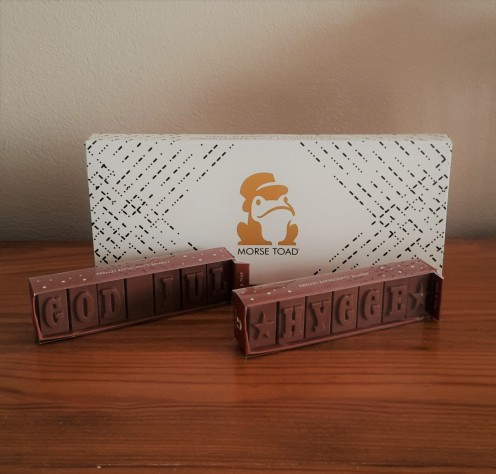 Morse Toad personalised chocolate stocking fillers