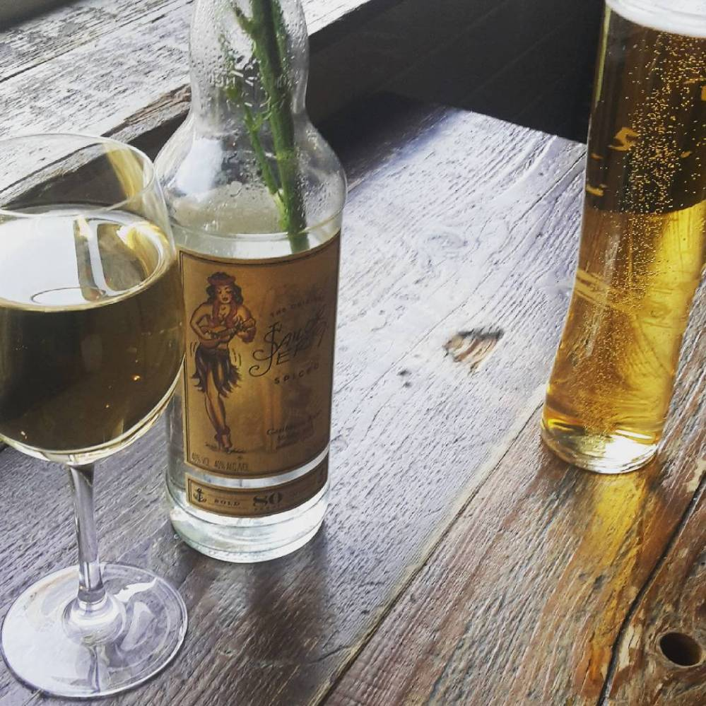 Wine and beer in a pub in Clapham, London