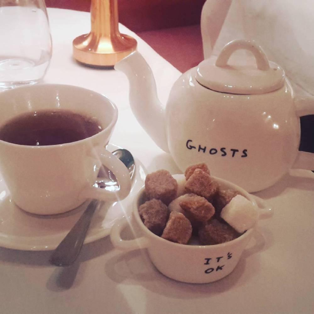 Crockery at Sketch, London afternoon tea