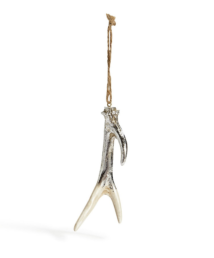 M&S silver antler Christmas decoration