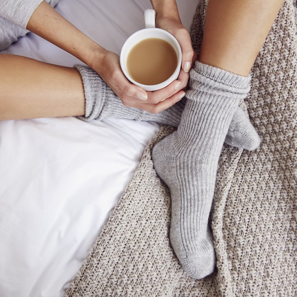 Cashmere bedsocks from The White Company