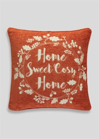 Home Sweet Cosy Home chenille cushion