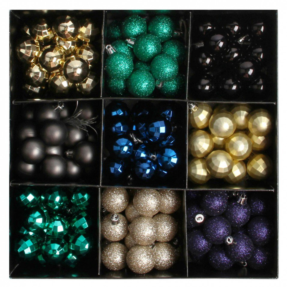 Paperchase mini glass baubles