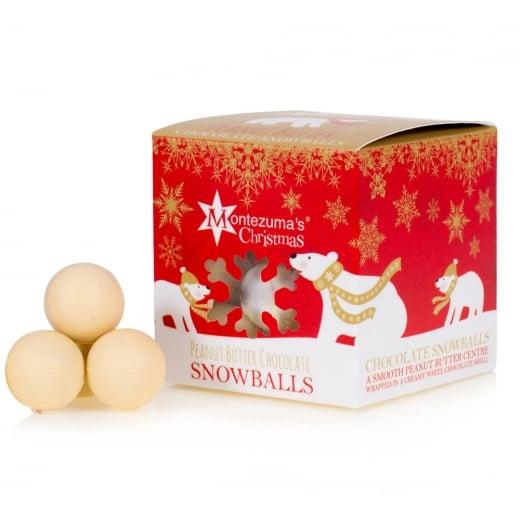 Montezuma's Peanut Butter Chocolate Snowballs