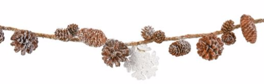Pine cone and snowflake garland