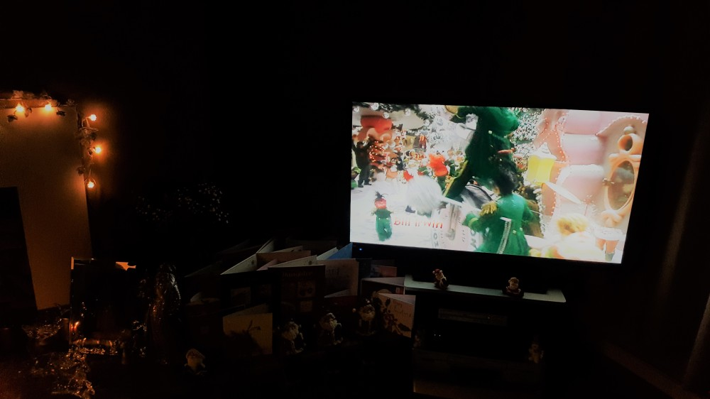 Watching The Grinch on Christmas Eve