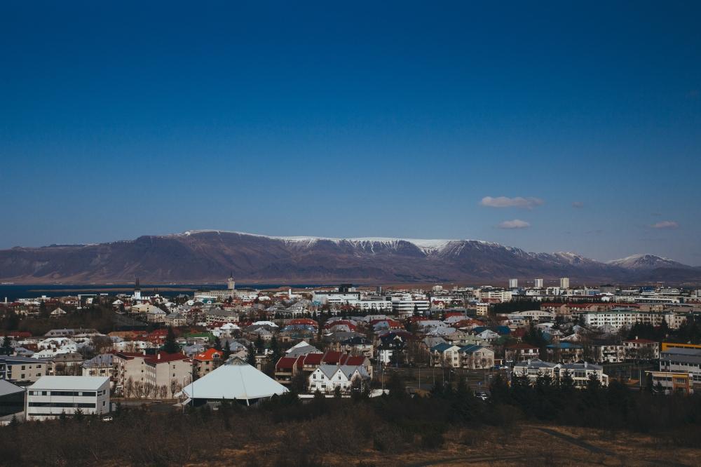 Sunshine over Reykjavik