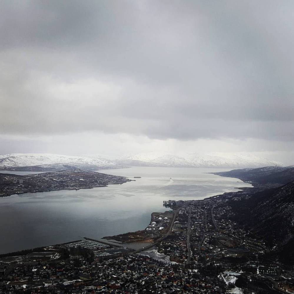 View from Fjellheisen in Tromso, Norway