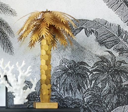 Brass palm tree table lamp from Abode Living
