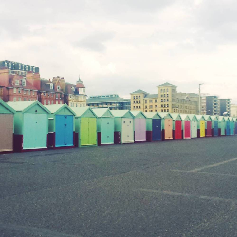 Beach huts on Hove promenade