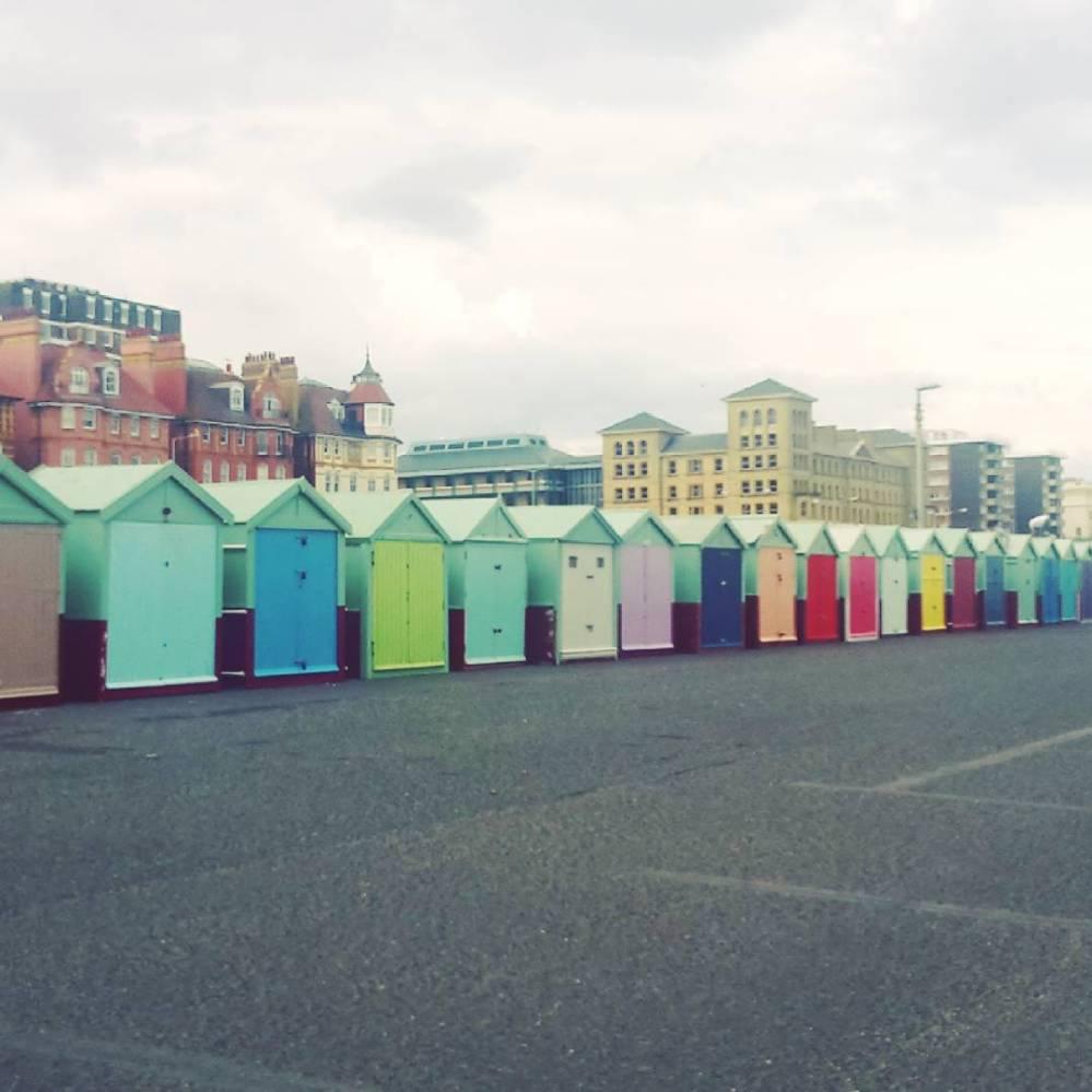 Beach huts on Hove promenade