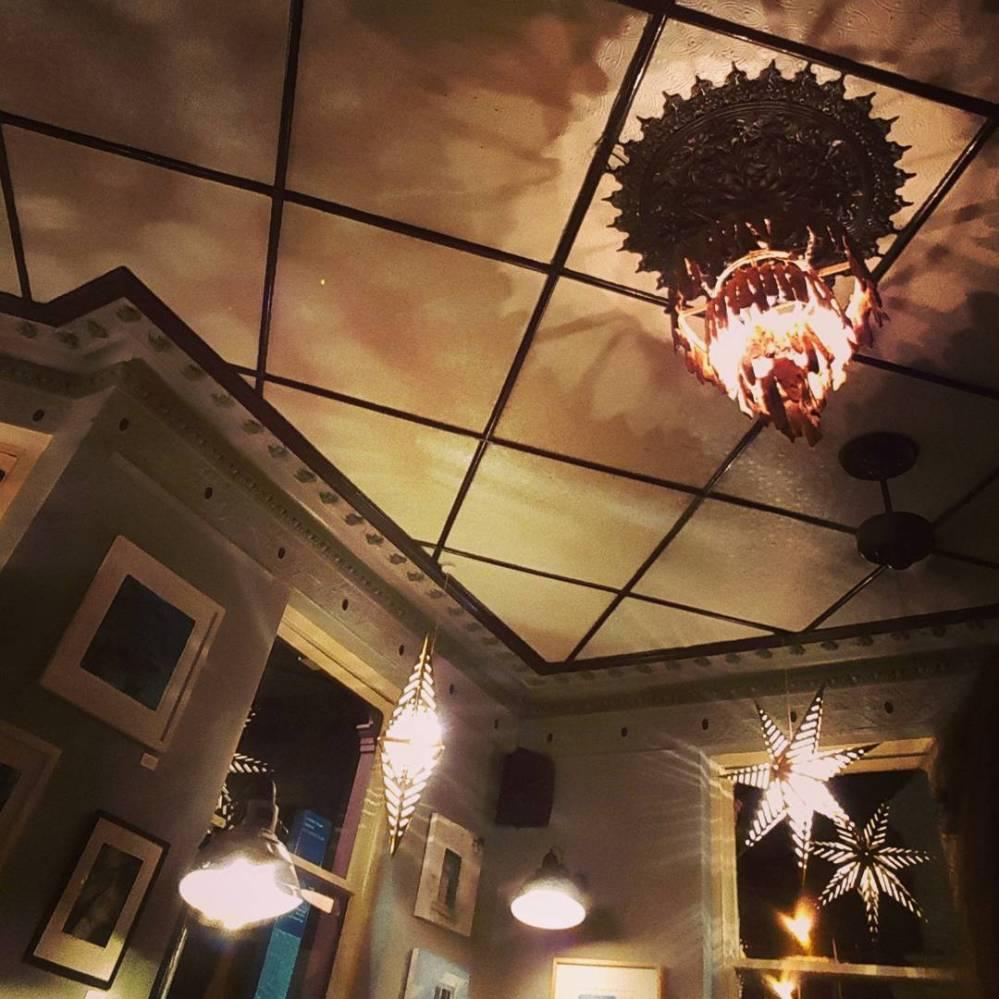 Lamps in Open House pub, Brighton