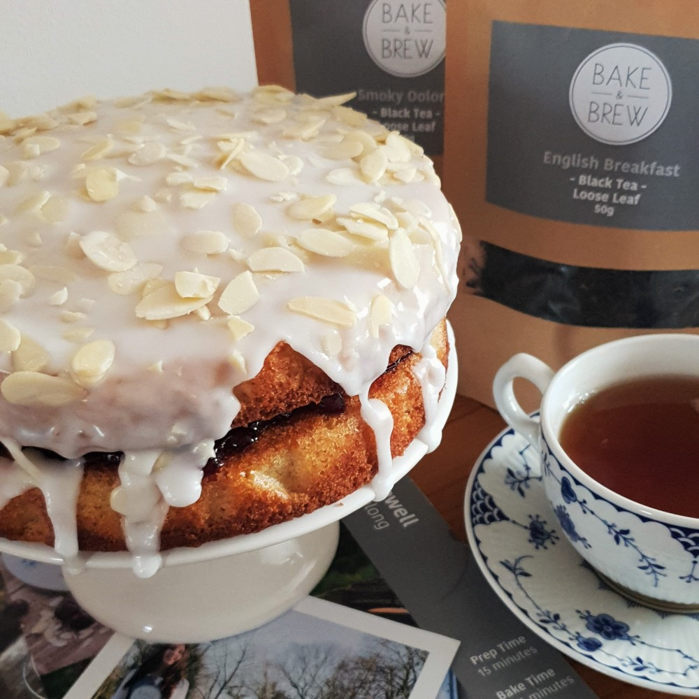Bake & Brew box cherry bakewell and oolong tea